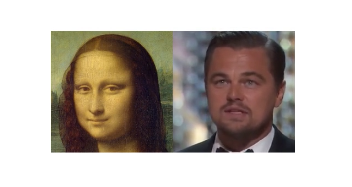 Mona Lisa and DiCaprio